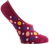 Ozone Women's Multicolored Dots 2 No Show Sock (3 Pairs)