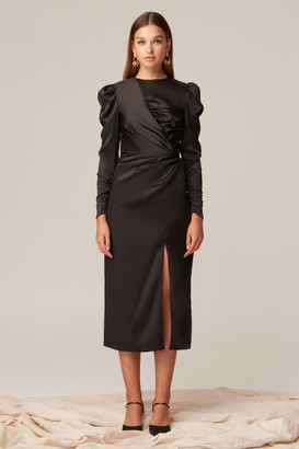 Keepsake HALFTIME LONG SLEEVE MIDI DRESS Black