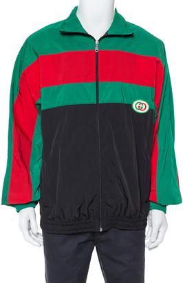 Gucci Black Striped Nylon Oversized Jacket L