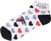 For Bare Feet Women's Atlanta Falcons Heart Logo Repeat Socks