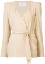 Ryan Roche - wrap cardigan - women - Silk - 2
