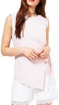 Miss Selfridge Asymmetrical Wrap Top