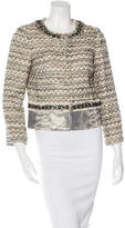 Tory Burch Leather-Trimmed Embellished Jacket