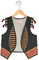 Scotch R'Belle Girls' Embroidered Open Front Vest