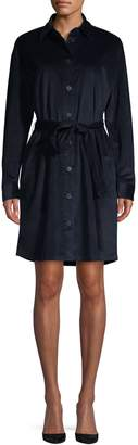 HUGO Self-Tie Corduroy Shirtdress
