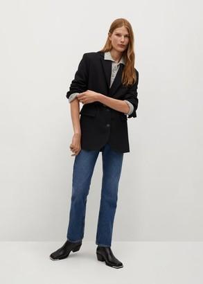 MANGO Structured wool blazer