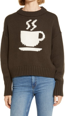 Lou & Grey Caffeinated Crewneck Sweater