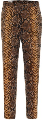 Dries Van Noten Snake-print high-rise wool pants