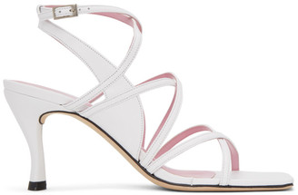BY FAR White Christina Heeled Sandals