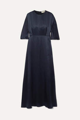 Mansur Gavriel Silk-satin Maxi Dress - Midnight blue