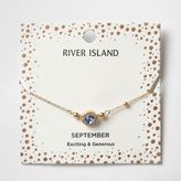 River Island Womens Blue gem September birthstone bracelet