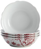 Bonjour Yuletide Garland Cereal Bowl Set of 4