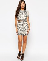 Missguided Premium Geo-Tribal Embellished Mini Skirt