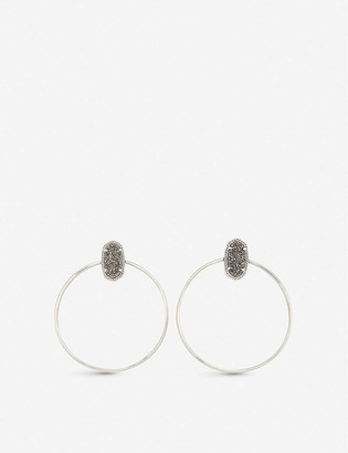 Kendra Scott Mayra 14ct rose gold-plated Gold Drusy hoop earrings
