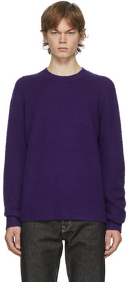 Acne Studios Purple Wool and Cashmere Sweater