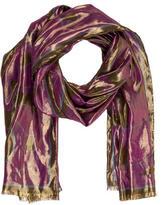 Emilio Pucci Metallic Silk-Blend Scarf
