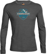 Icebreaker Men's Oasis Long Sleeve Crewe Alpine Crest Baselayer