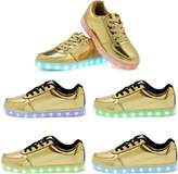 OUYAJI 11 color flashing USB LED light up Charging Shoes walking Sneakers for adult&kids 42