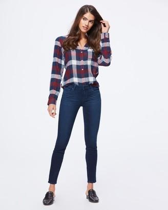 Paige Neve Shirt-Burgundy