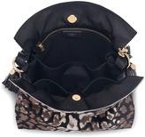 Loewe Flamenco 30 Drawstring Calf Hair Bag, Black/Stone