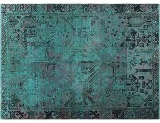 "Bloomsbury Market One-of-a-Kind Sadik Handmade Kilim 4'6"" x 6'3"" Wool Aqua Green/Black Area Rug"