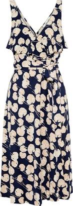 Diane von Furstenberg Naya Ruffled Printed Silk-jersey Wrap Dress
