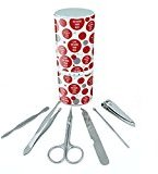 Manicure Pedicure Grooming Beauty Personal Care Travel Kit (Tweezers,Nail File,Nail Clipper,Scissors) - I Love You More Than Beer Red
