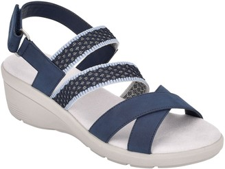 Easy Spirit Adjustable Wedge Sandals - Priya