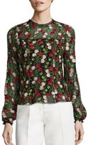Alexis Aida Floral Embroidered Top