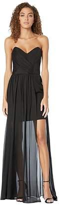 Nicole Miller Chiffon Strapless Gown