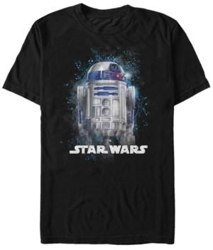 Star Wars Men's Classic R2-D2 Paint Splatter Short Sleeve T-Shirt