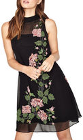 Miss Selfridge Sleeveless Floral Trapeze Dress