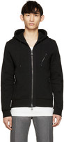 Belstaff Black Moto Headley Zip-Up Sweater