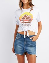 Charlotte Russe California Knotted Graphic Tee