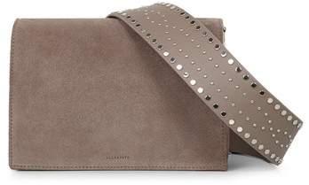 AllSaints Billie Mini Suede Crossbody Bag
