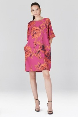 Natori Tie-Dye Floral - Crepe T-Shirt Dress