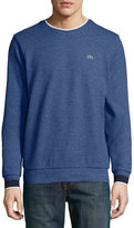 Lacoste Semi-Fancy Piqué Sweatshirt, Navy Blue/Dark Gray