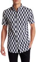 Zanerobe Short Sleeve Trim Fit Print Woven Shirt
