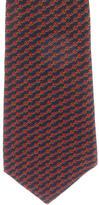 Hermes Chain Print Silk Tie