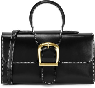 Rylan 5.20 Mini Black Leather Top Handle Bag