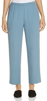 Eileen Fisher Silk Straight Ankle Pants