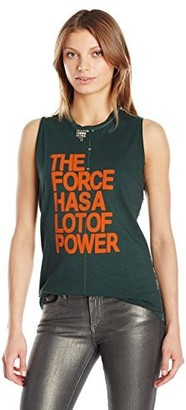 Freecity Women's The Force Has The Power Studded Slvss