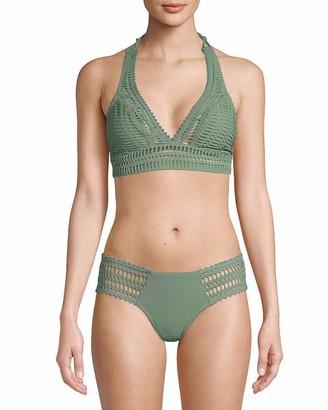 Robin Piccone Women's Sophia Crochet Halter Bikini Top