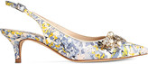 LK Bennett Emmie floral-print leather sling-backs
