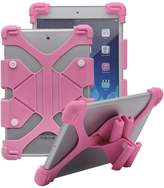 Tsmine Tablet Silicone ShockProof case -Universal Elastic Stand Soft Skin Cover
