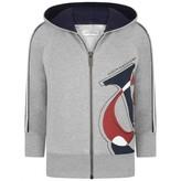 John Galliano John GallianoBoys Grey Logo Zip Up Top