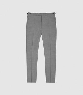 Reiss Pray - Slim Fit Travel Trousers in Grey