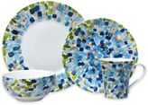 222 Fifth Solena 16-Piece Dinnerware Set in Blue