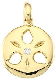 Tamara Comolli 18K Yellow Gold & Diamond Small Sand Dollar Pendant