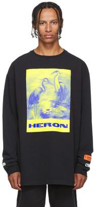 Heron Preston Black Heron Paint Long Sleeve Shirt